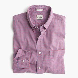 New JCREW Slim Shirt Ruby Heather Poplin Gingham